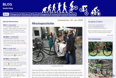 """altes"" Blog-Design"