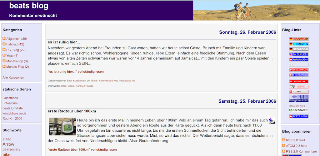 Blogdesign anno 2006